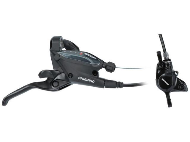Shimano EF505/MT200 Scheibenbremse Hinterrad 8-fach black